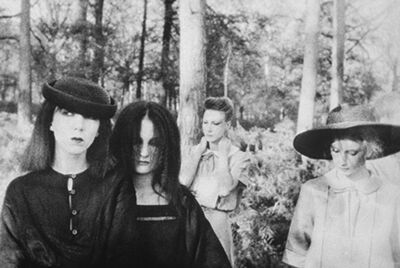 Deborah Turbeville, 'Ella, Anna, Isabelle, Fredericke, and Robin in Valentino at the Bois du Faux Repos, Normandy, VOGUE Italia', 1978
