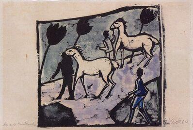 Erich Heckel, 'Weisse Pferde (White Horses)', 1912