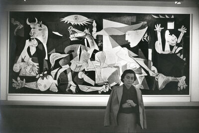 David Douglas Duncan, 'Jacqueline and Guernica, MOMA NYC', 1980