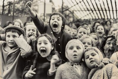 Alfred Eisenstaedt, 'Children at a Puppet Theatre, Paris', 1963