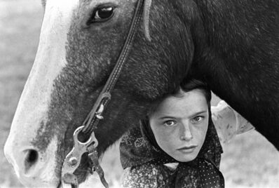 Laura Wilson, 'Hutterite Girl With Her Horse, Chattahoochee '