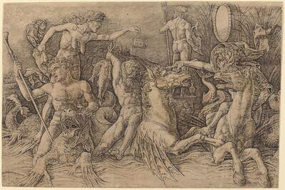 Andrea Mantegna, 'Battle of the Sea Gods [left half]', ca. 1485/1488