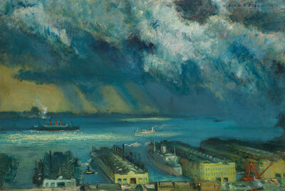 Cecil Bell, 'Passing Shower', 1945