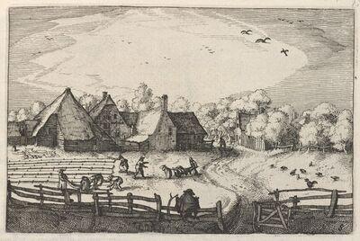 Claes Jansz Visscher, 'Blekerye aededuyne gelegen (Farms and Bleaching-Fields)', ca. 1611/1612