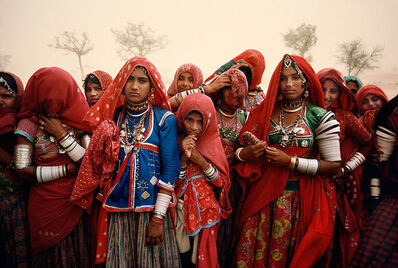 Steve McCurry, 'CLUSTER OF WOMEN DURING A DUST STORM, RAJASTHAN, INDIA, 1983', 1983