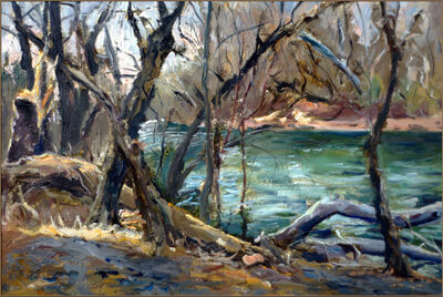Raoul Middleman, 'Deer Creek, In Winter', 2005