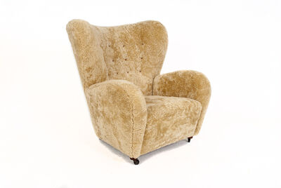 Attributed to Flemming Lassen, 'Sheepskin Easy Chair'