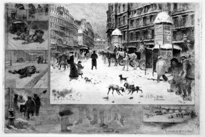 Félix Hilaire Buhot, 'L'Hiver a Paris ou La Neige a Paris', 1879