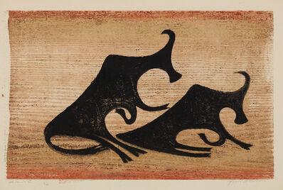 Ewald Mataré, 'Kühe im Nebel (Cows in the Mist)', 1952