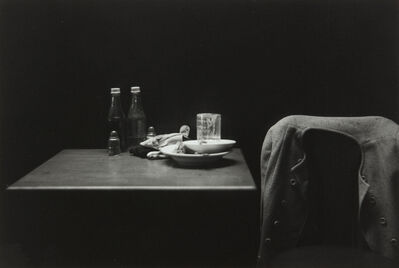 Roy DeCarava, 'Catsup Bottles, Table and Coat, New York', 1952