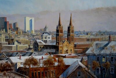 Frederick Kubitz, 'View of Boston from Parker Hill', 2019