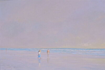 Willard Dixon, 'Two Figures on the Beach / oil on canvas ', 2019