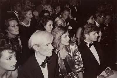 Christopher Makos, 'Fame (Marisa Beresnson, Andy Warhol, Laren Hutton, Mikhail Baryshinkov) at a Fashion Show in New York City, October 4', 1982