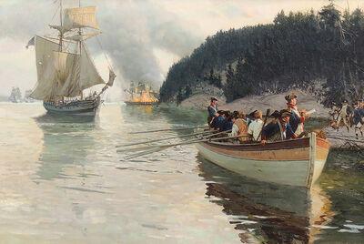 Tom Lovell, 'Penobscot Bay Expedition', 1960