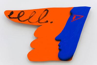 "James English Leary, '""Multiple Interpretation Painting (Orange Finger)""', 2016"