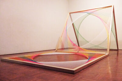 Nike Savvas, 'Sliding Ladder: Yellow, White, Pink, Green', 2012