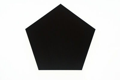Olivier Mosset, 'Untitled (Black Pentagon)', 2010