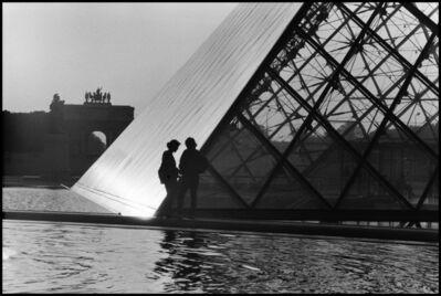 Elliott Erwitt, 'Glass Pyramid by Louvre Museum, Paris', 1969