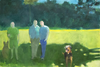 Paul Wonner, 'Park with Figures and Dogs', 2006