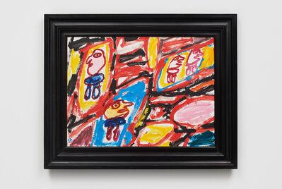Jean Dubuffet, 'Site avec 4 personnages, 31 aout 1981', 1981