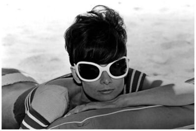 Terry O'Neill, 'Audrey Hepburn Shades and Chair '