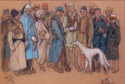 Abel Pann, 'Soldiers in World War I', 1913