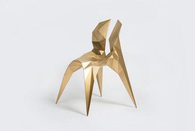 Zhoujie Zhang, 'Split Chair (SQN3-A) Brass', 2014