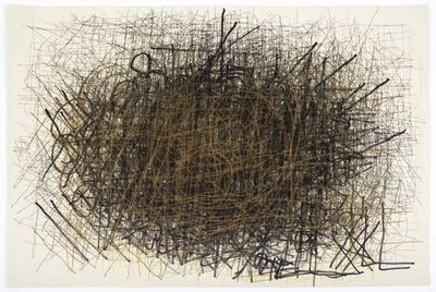Dan Miller, 'Untitled (Black and Thin Gold Lines)', 2014