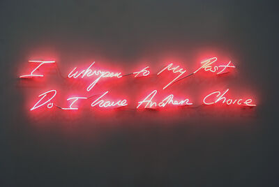 Tracey Emin, 'I Whisper to My Past Do I have Another Choice', 2010
