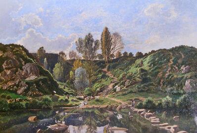 Louis Herisson, 'Barbizon Landscape', 1811-1859