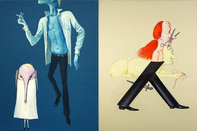 Viktor Pivovarov, 'The Chosen One and the Sphynx (diptych)', 2008
