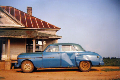 William Christenberry, 'House & Car, Near Akron, Alabama', 1978