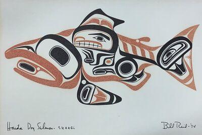 Bill Reid, 'Haida Dog Salmon - Skaagi', 1974