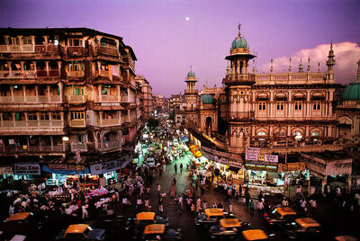 Steve McCurry, 'Moonrise over Mumbai, India', 1994