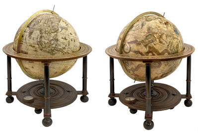 Willem Blaeu, '[A pair of Globes - Terrestrial and Celestial] Globus Orbis Terrae.', ca. 1645