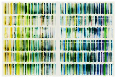 Jaq Chartier, 'Green/Blue Chart', 2018