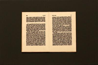 Emilio Isgrò, 'Ante litteram, Pompeo', 1972