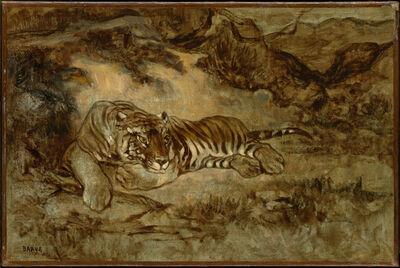 Antoine-Louis Barye, 'Tiger at Rest', 1850-1870