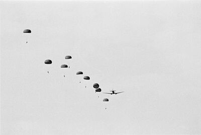John Liebenberg, 'Training jump by SADF outside Windhoek, Namibia', 1987