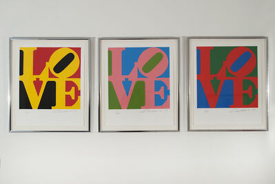 Robert Indiana, 'Book of Love (Yellow - Pink - Red )', 1996