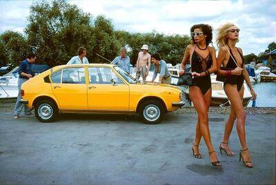 Brian Duffy, 'Alphasud car - henley on thames', 1974