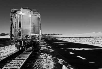 Osceola Refetoff, 'Serpentine Hopper Cars - Infrared Exposure - Searles, California', 2010