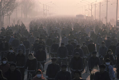 Hiroji Kubota, 'From about 7:30 a.m., Gangtie Rd. Nei Mongol, Baotou, China', 1984