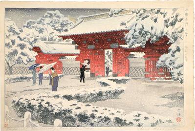 Kasamatsu Shirō, 'Hongo Red Gate in Snow', ca. 1935