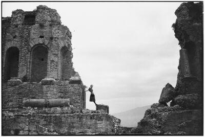Arthur Elgort, 'Amphitheater, Taormina, Sicily', 1989