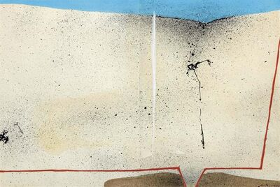 Giuseppe Santomaso, 'Oil at the bottom of the sea (Geological formations)', published in 1967 c.a