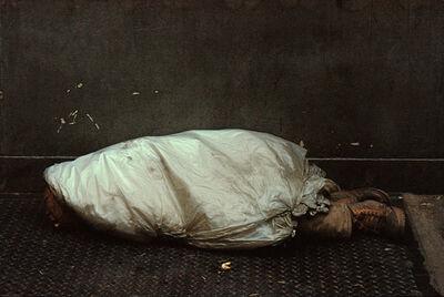 Frank Horvat, 'New York, Tribeca, Homeless Person under Plastic', 1984