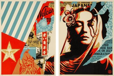 Shepard Fairey, 'Welcome Visitor', 2017