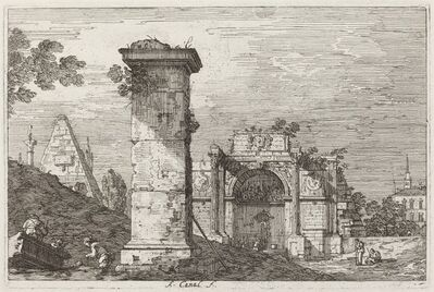 Canaletto, 'Landscape with Ruined Monuments [right]', ca. 1735/1746