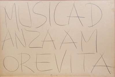 Giuseppe Chiari, 'Musicadanzaamorevita', 1974